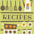 Recipe Card — Vector de stock #12655434