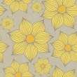 Yellow Flowers Background — Imagen vectorial