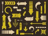 гранж стрелки коллекции — Cтоковый вектор