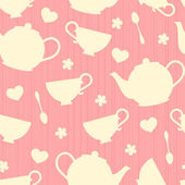 Teatime Background — Stock Vector