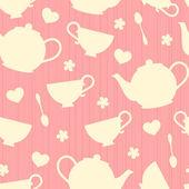 Teatime Background — Stock Vector