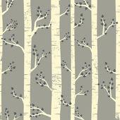Birch Forest Background — Stock Vector