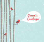 Christmas Birds — Vector de stock