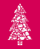 Fashion Christmas Tree — Wektor stockowy