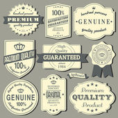 Vintage labels-collectie — Stockvector