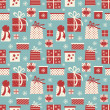 Christmas Gifts Background — Vektorgrafik