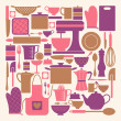 Kitchen Items Collection — Vector de stock #14370859