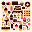 Stock Vector: Dessert Icons Collection