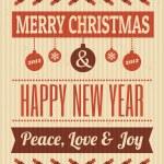 diseño vintage de Navidad — Foto de Stock