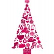 Fashion Christmas Tree — Stock Vector