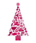 时尚的圣诞树 — 图库矢量图片
