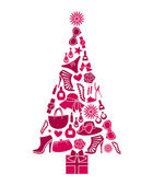 árbol de navidad de moda — Vector de stock