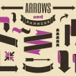 Arrows and Banners Collection — Stock Vector