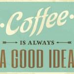 cartel estilo retro café — Vector de stock