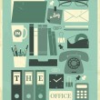 A Day in the Office Poster - Stock Vector