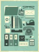 Um dia no poster do escritório — Vetor de Stock