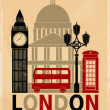 Stock Vector: Vintage London Poster
