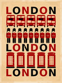 Vintage London Poster — Stock Vector