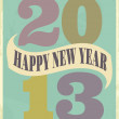 Vintage New Year Card — Stock Vector