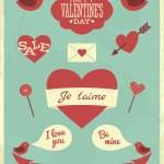 Valentine Design Elements — Stock Vector