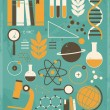 Science and Education Collection — Vector de stock #18549981