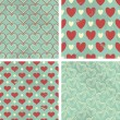 Stock Vector: Vintage Valentine Backgrounds