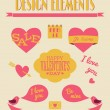 Royalty-Free Stock Vectorafbeeldingen: Valentine\'s Day Retro Collection