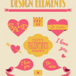 Royalty-Free Stock Imagen vectorial: Valentine\'s Day Retro Collection