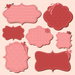 Valentine's Day Labels Set — Stock Vector