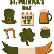 St. Patrick's Day Design Elements Set — Stockvektor