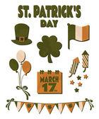 St. Patrick's Day Design Elements Set — Stock Vector