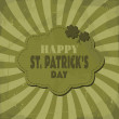 St. Patrick's Day Greeting Card — Stockvektor