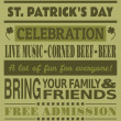 St. Patrick's Day Party Invitation — Stock Vector