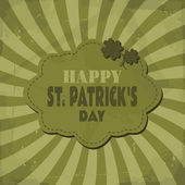 St. Patrick's Day Greeting Card — Stock Vector