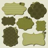St. Patrick's Day Labels Collection — Vetor de Stock