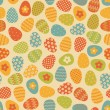 Seamless Easter Eggs Pattern — Stockvektor