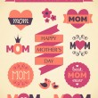 Stock Vector: Mother's Day Design Elements