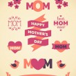 Mother's Day Design Elements — ストックベクタ