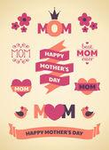 элементы дизайна день матери — Cтоковый вектор