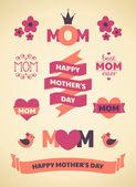 Mother's Day Design Elements — Cтоковый вектор