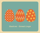 Easter Greeting Card Design — Stock Vector