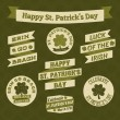 St. Patrick's Design Elements — Stock Vector