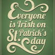 St. Patrick's Day Card — Stock vektor