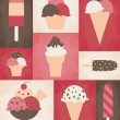Retro Ice Cream Poster - Stock vektor