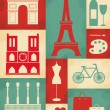 Retro Paris Poster - Stock Vector