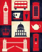 Retro London Poster — Stock Vector