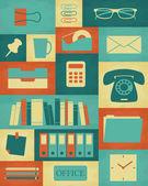 Retro Office Poster — Stock Vector