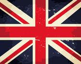 Vintage UK Flag — Stock Vector