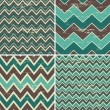 Seamless Chevron Patterns Collection — Vector de stock