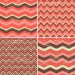 Seamless Chevron Patterns Collection — Stock Vector